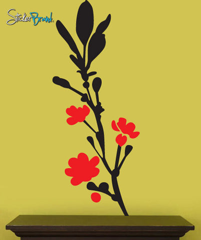 Vinyl Wall Decal Sticker Flower Design Floral #111