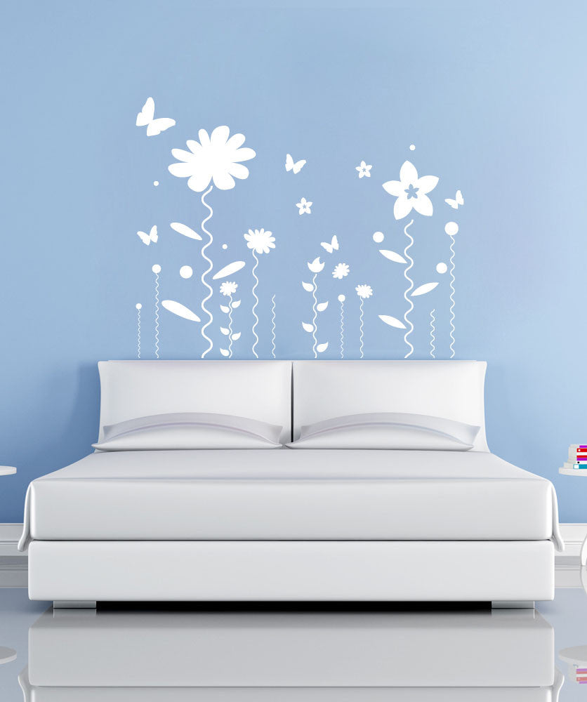 Vinyl Wall Decal Sticker Flower Squiggles #1126