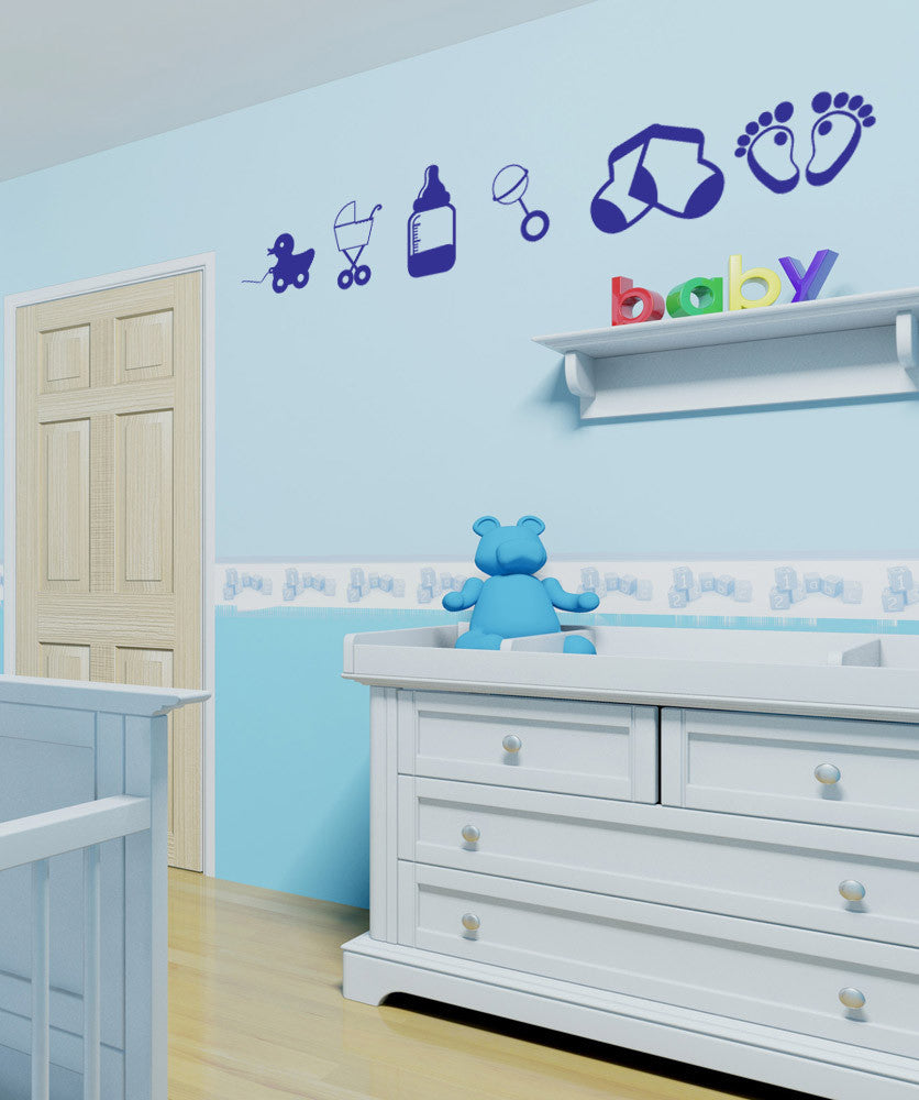 Vinyl Wall Decal Sticker Baby Stuff #1129
