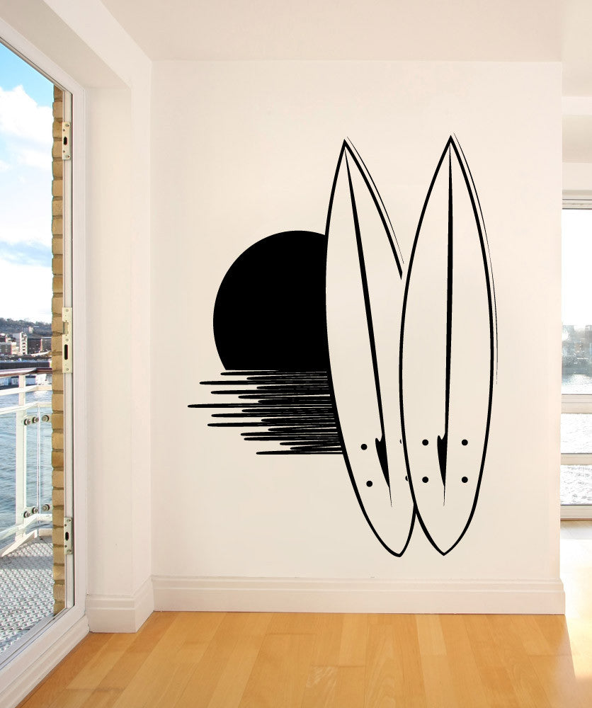 Vinyl Wall Decal Sticker Surfboard Sunset #1134