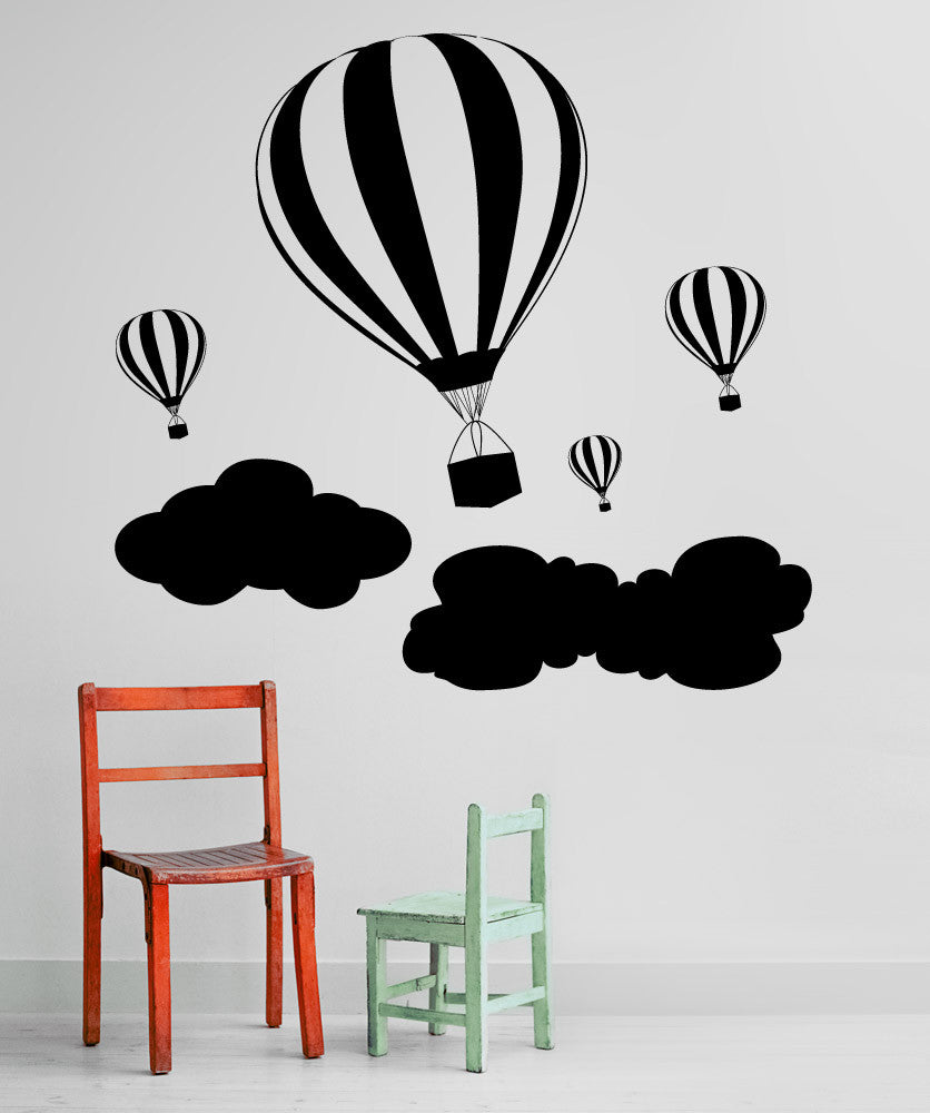 Vinyl Wall Decal Sticker Hot Air Balloons 1136