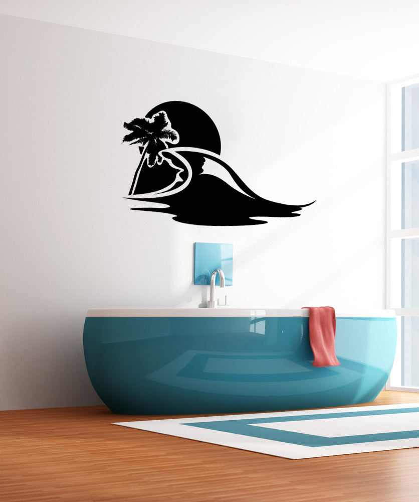 Vinyl wall decal sticker beach wave 1137 amipublicfo Image collections