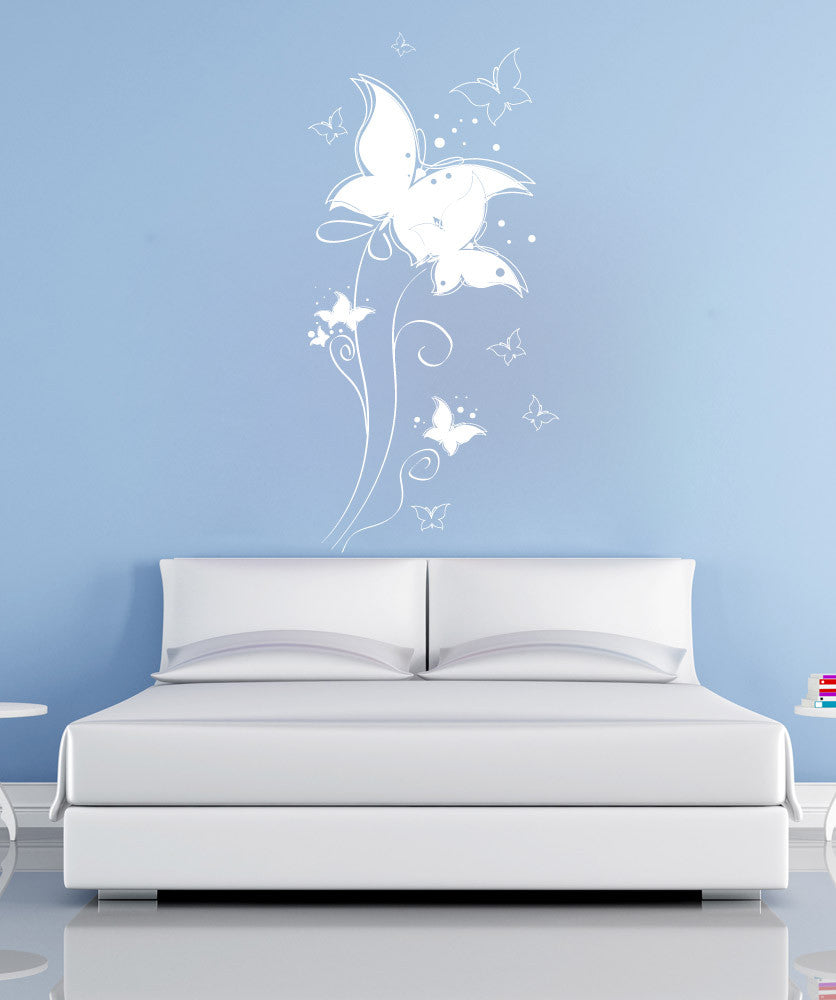 Vinyl Wall Decal Sticker Butterfly Balloons #1145