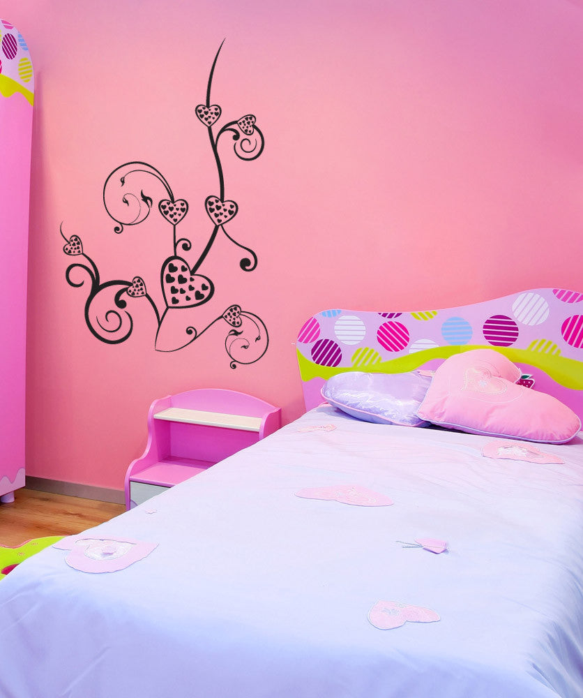 Vinyl Wall Decal Sticker Heart Plant #1150