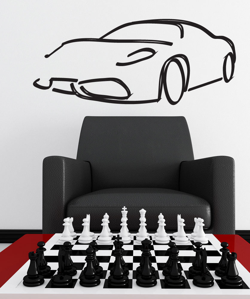 Vinyl Wall Decal Sticker Car Outline #1158