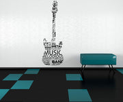 Vinyl Wall Decal Sticker Music Words Guitar #1162