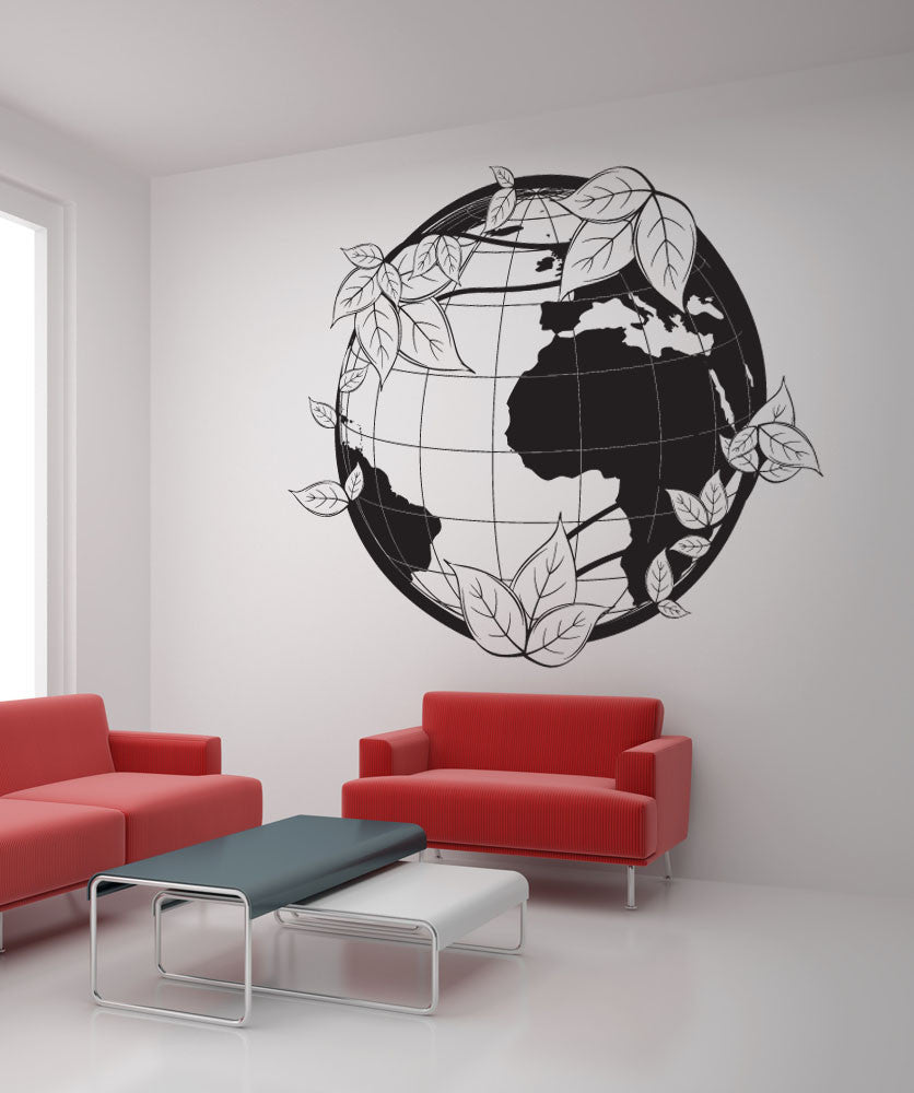 Vinyl Wall Decal Sticker Green Earth #1164