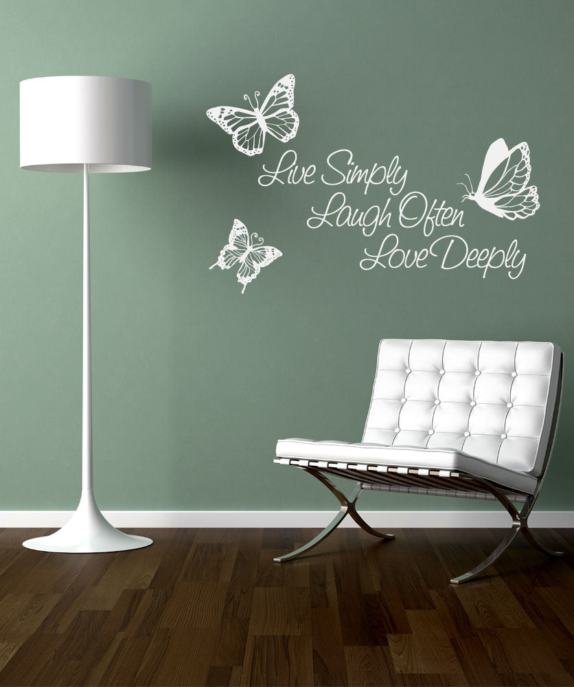vinyl wall decal sticker inspirational quote live simply laugh ofter l vinyl wall decal sticker inspirational quote live simply laugh ofter love deeply 1166