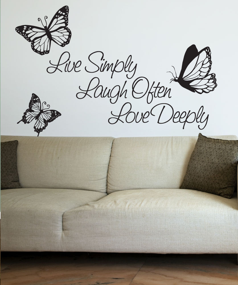 Attrayant Vinyl Wall Decal Sticker Inspirational Quote Live Simply Laugh Ofter Love  Deeply #1166