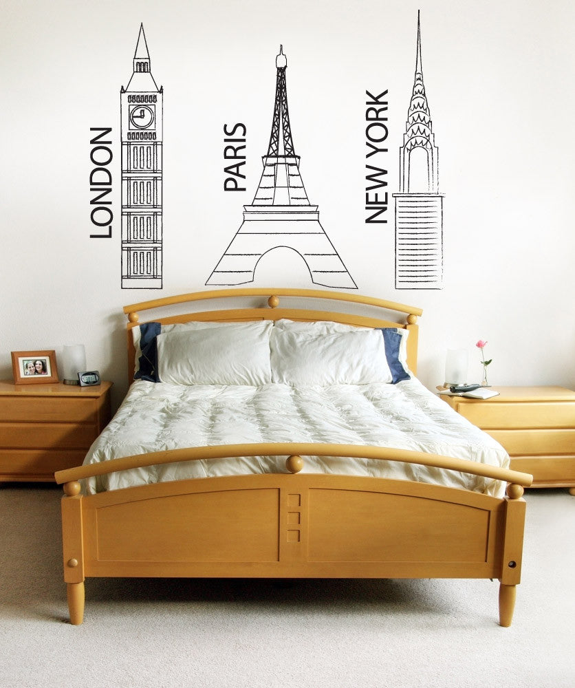 Vinyl Wall Decal Sticker Major Cities #1170