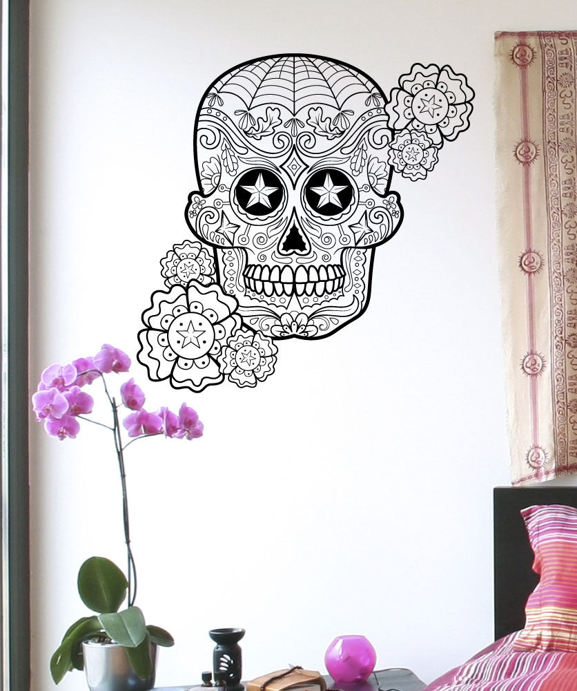 Vinyl Wall Decal Sticker Star Sugar Skull #1177