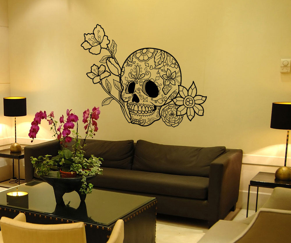 Sugar Skull Wall Decal Skull Wall Stickers Stickerbrand
