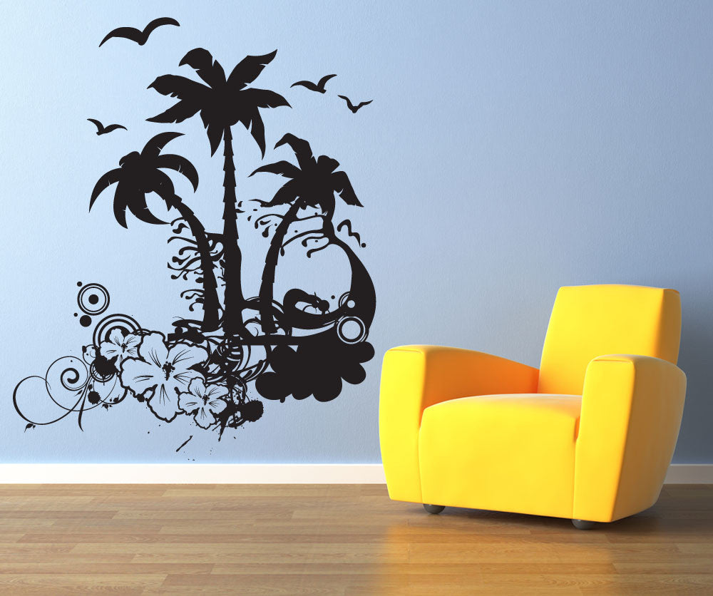 Vinyl Wall Decal Sticker Tropical Art #1196