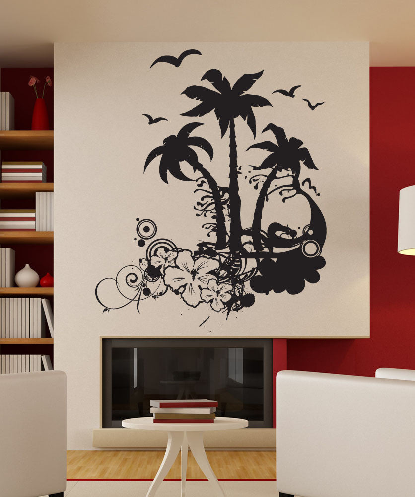 Vinyl Wall Decal Sticker Tropical Art 1196