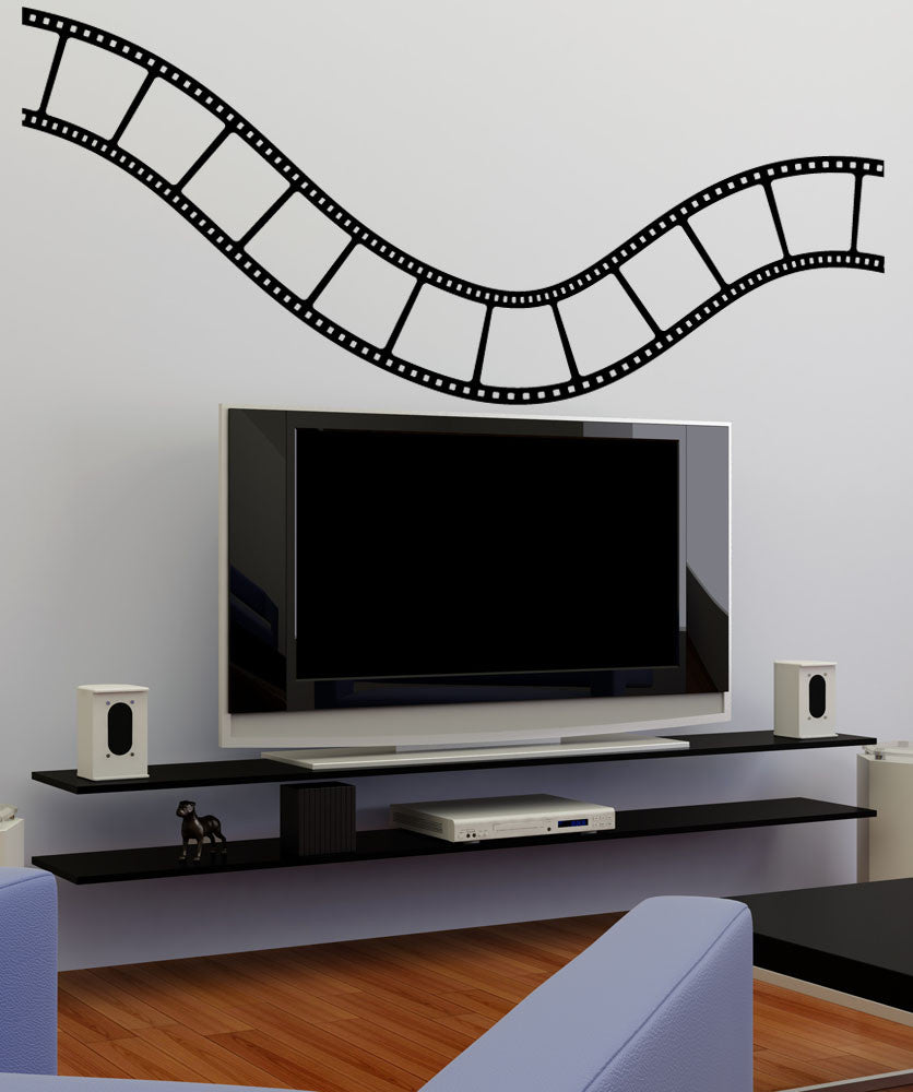 Vinyl Wall Decal Sticker Wavy Film Strip #1200