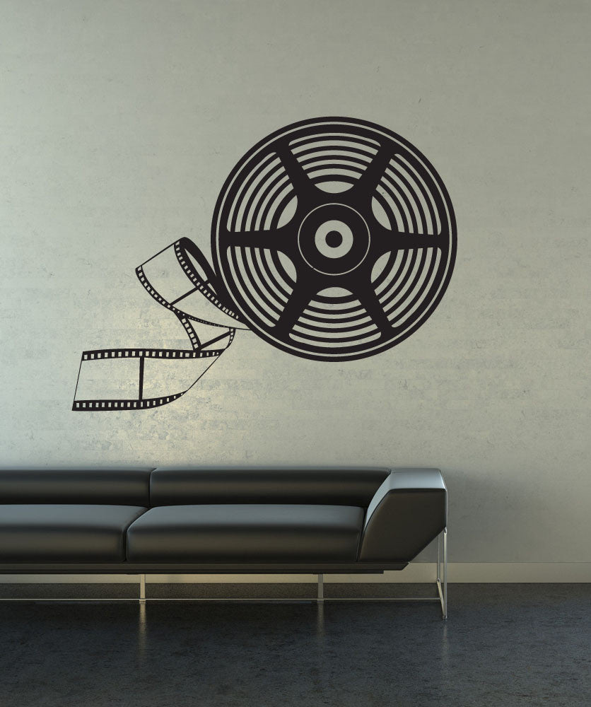 Vinyl Wall Decal Sticker Big Movie Reel #1202