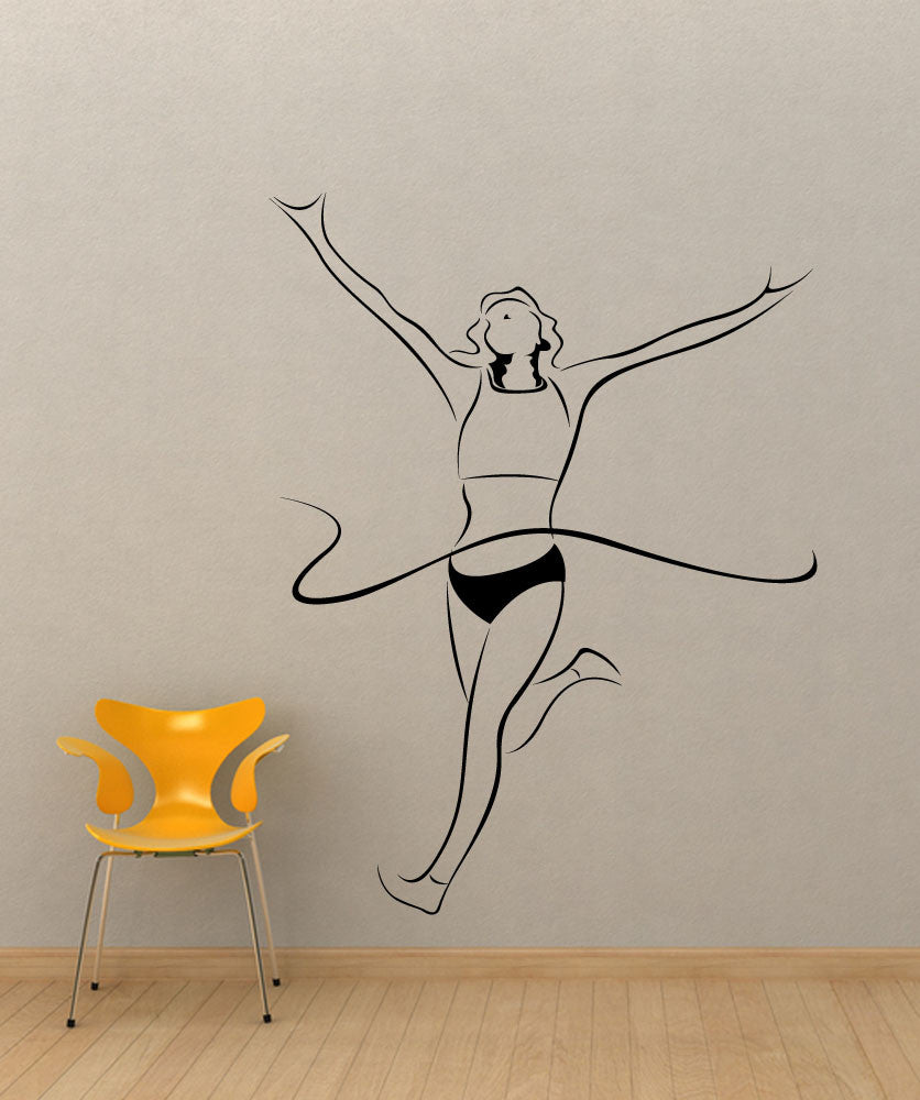 Vinyl Wall Decal Sticker Finish Line #1205