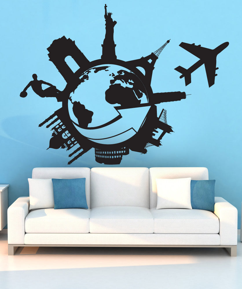 Vinyl Wall Decal Sticker Travel the World #1206