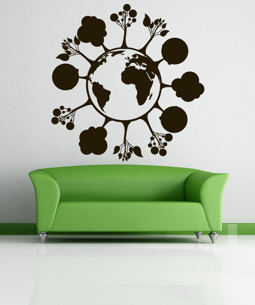 Vinyl Wall Decal Sticker Trees on Earth #1207