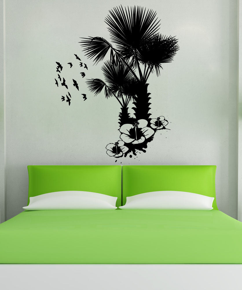 Vinyl Wall Decal Sticker Tropical Nature #1214