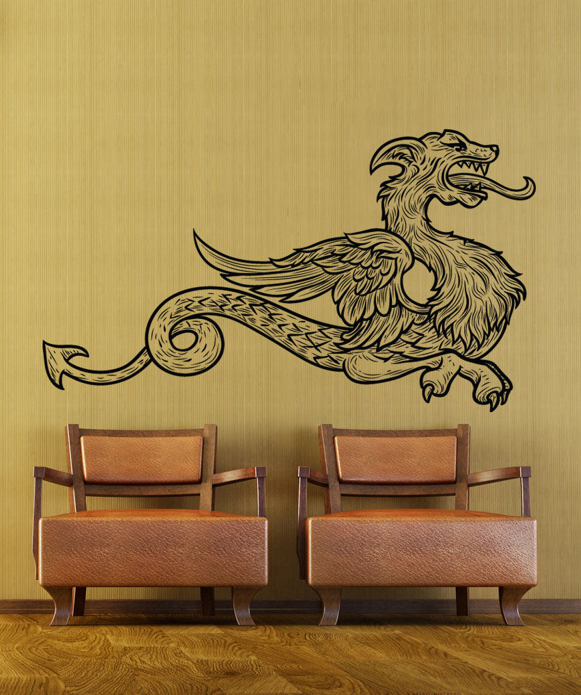 Vinyl Wall Decal Sticker Asian Dragon Creature #1217