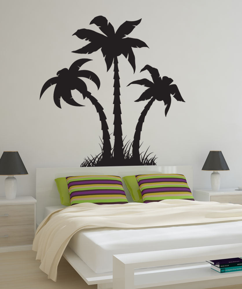 Vinyl Wall Decal Sticker Palm Trees Silhouette 1219