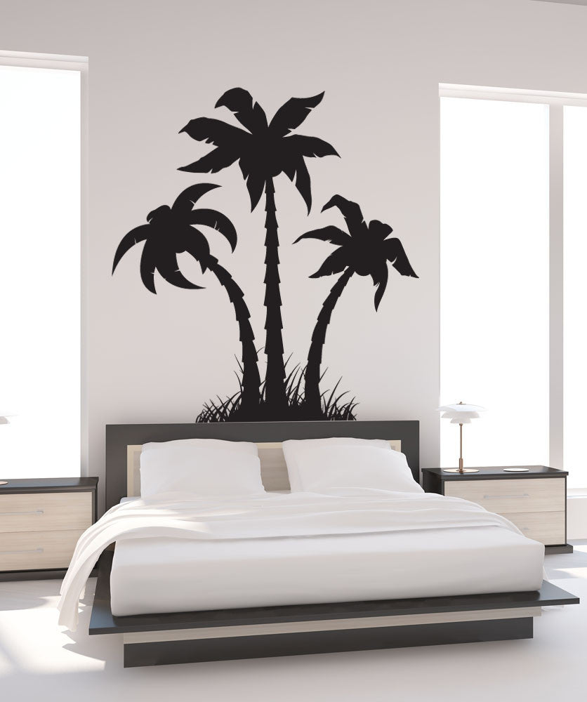 Vinyl Wall Decal Sticker Palm Trees Silhouette #1219 for Wall Sticker Tree Silhouette  588gtk