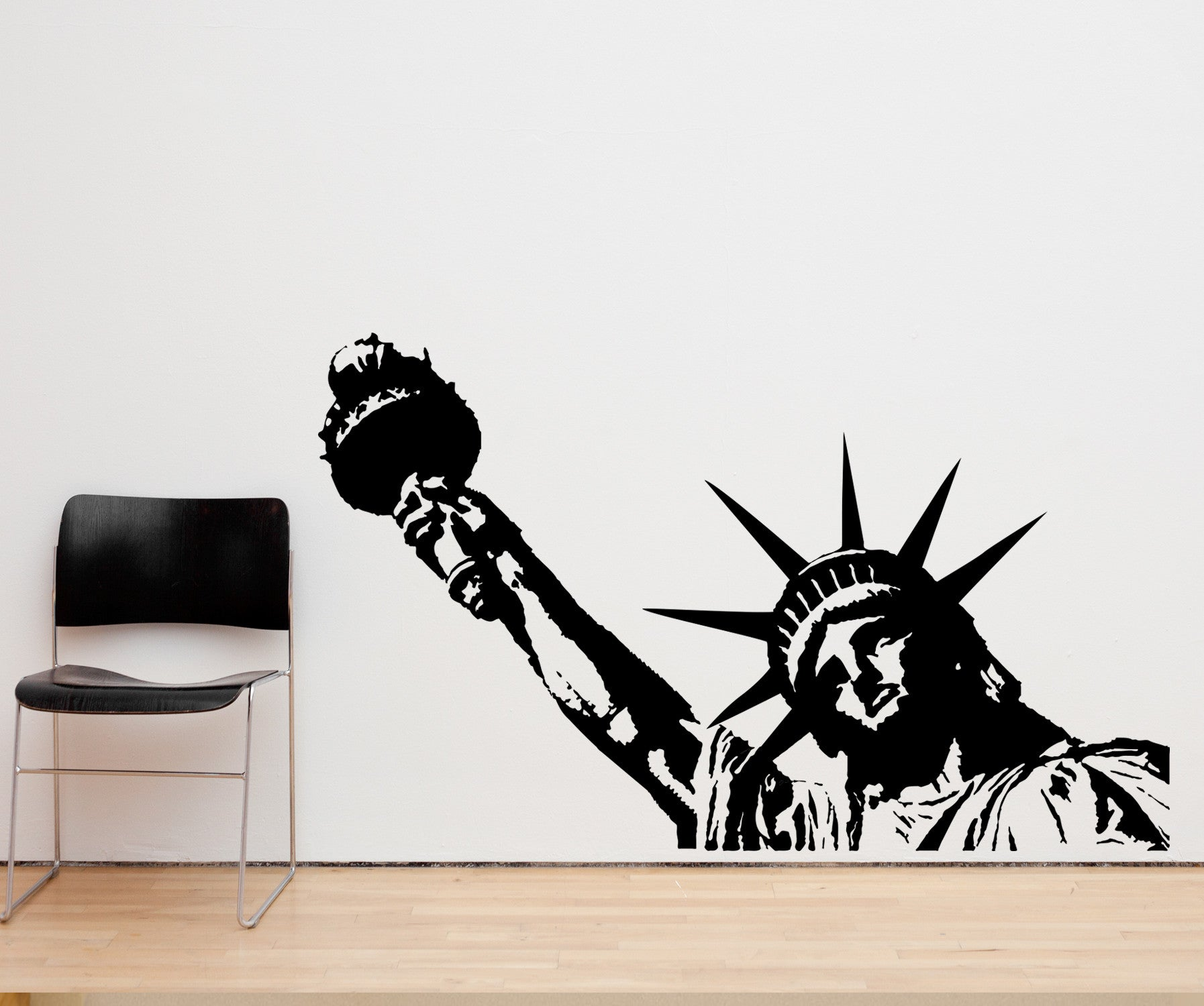 Statue Of Liberty Wall Sticker Big Statue Of Liberty Vinyl Wall Decal Sticker 122