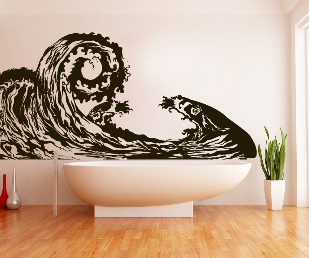 Wave Wall Decal Ocean Wave Wall Sticker Waves Decal