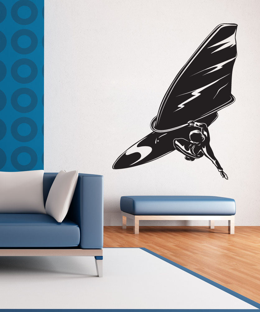 Vinyl Wall Decal Sticker Wind Surfing Trick #1225