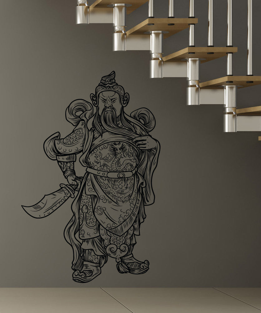 Vinyl Wall Decal Sticker Asian Warrior #1228