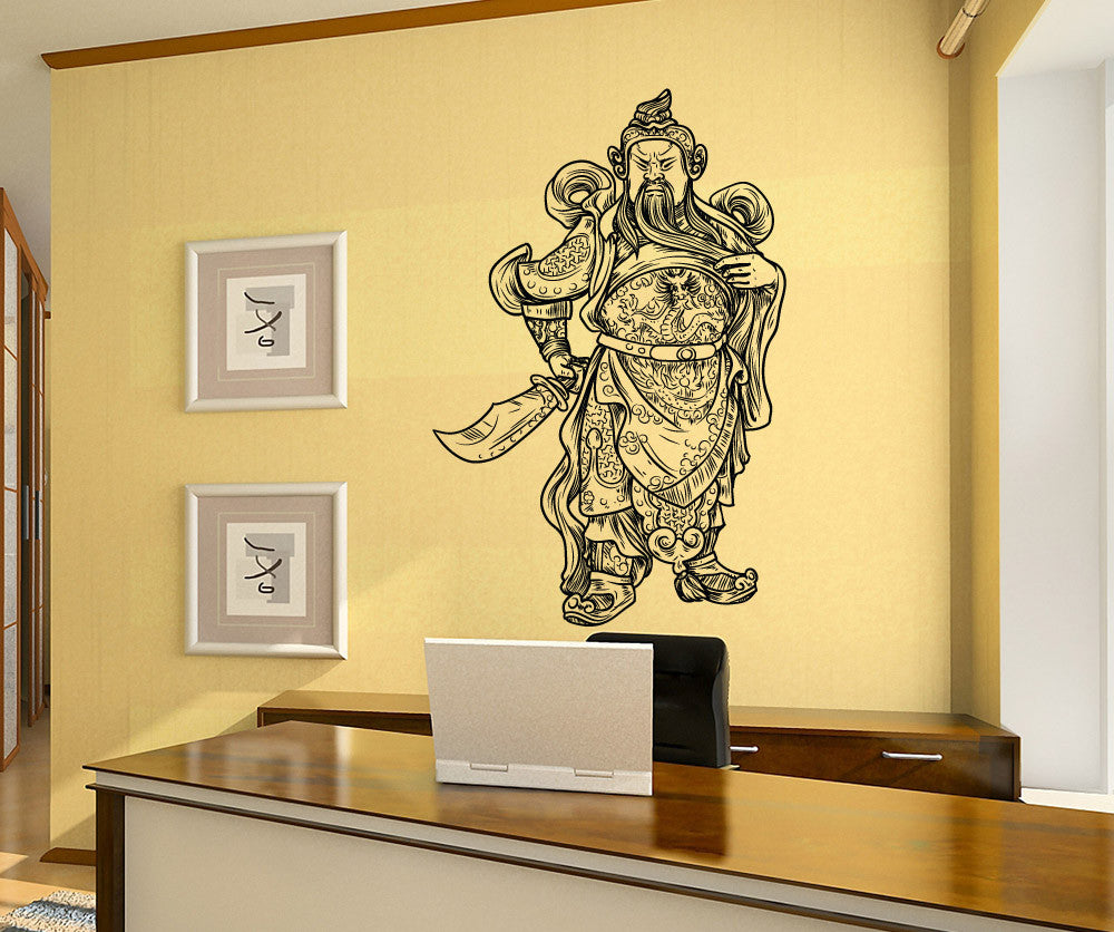 Vinyl Wall Decal Sticker Asian Warrior - Vinyl wall decals asian
