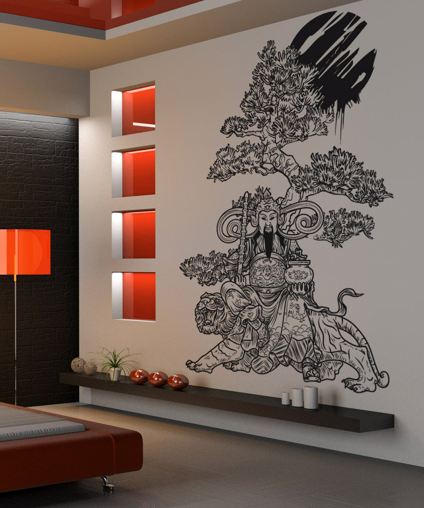 Vinyl Wall Decal Sticker Wise Asian Art - Vinyl wall decals asian