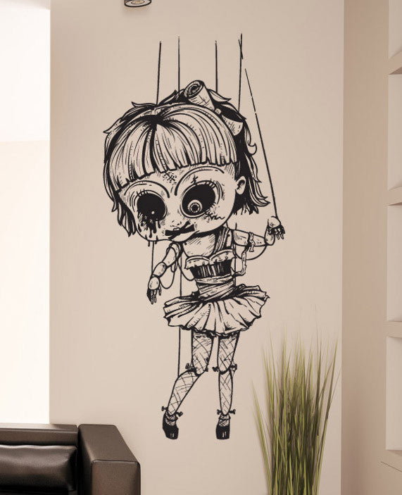 Vinyl Wall Decal Sticker Creepy Doll 1230