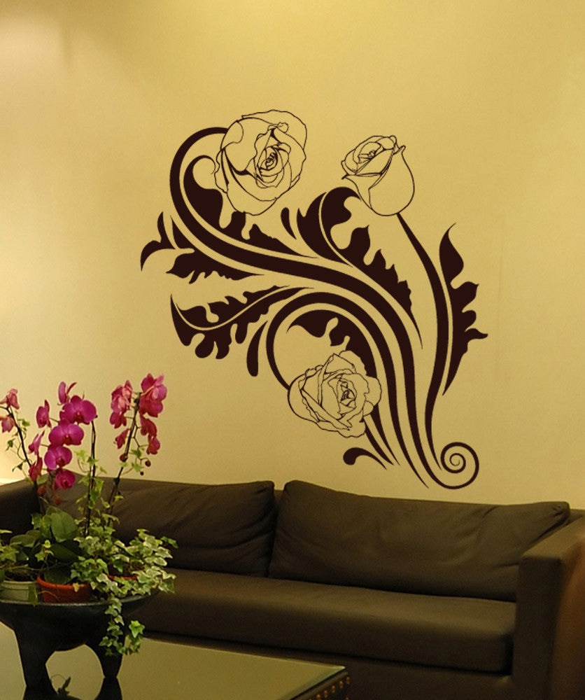 Large Flower Wall Decals | Vinyl Flower Stickers | StickerBrand –