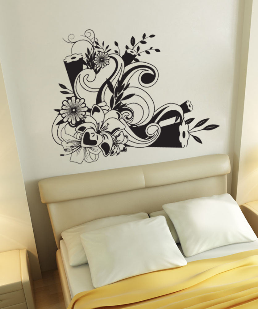 Vinyl Wall Decal Sticker Flower Design #1243