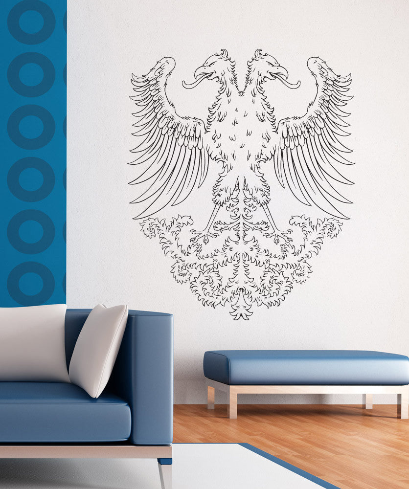 Vinyl Wall Decal Sticker Two Headed Phoenix #1250