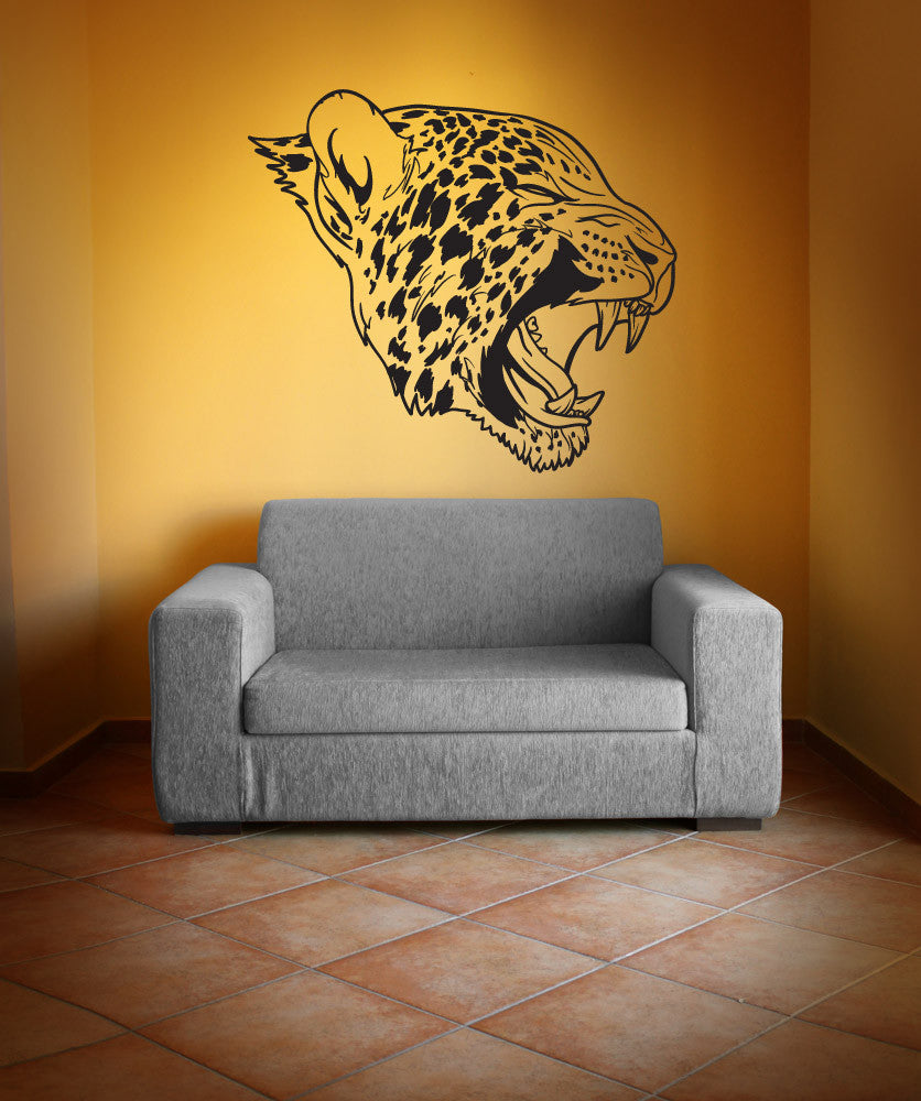 Vinyl Wall Decal Sticker Angry Leopard #1254