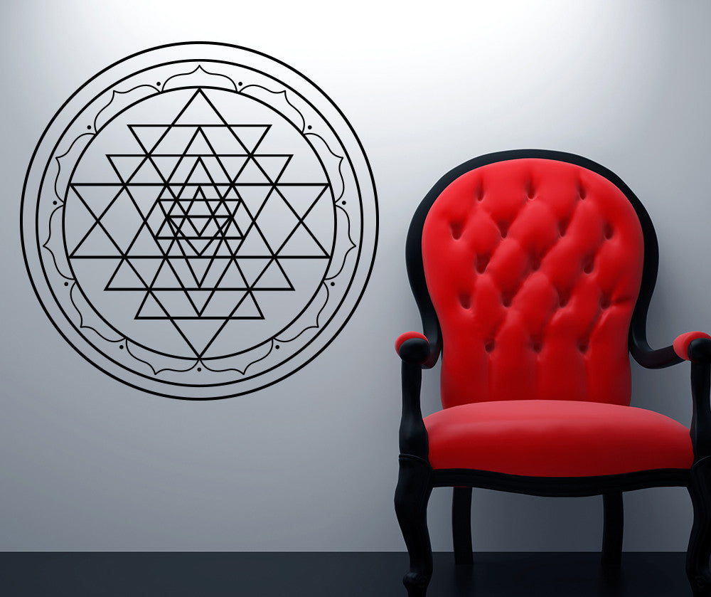Vinyl Wall Decal Sticker Sri Yantra Os Mb1255