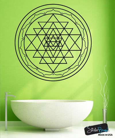 Vinyl Wall Decal Sticker Sri Yantra #OS_MB1255