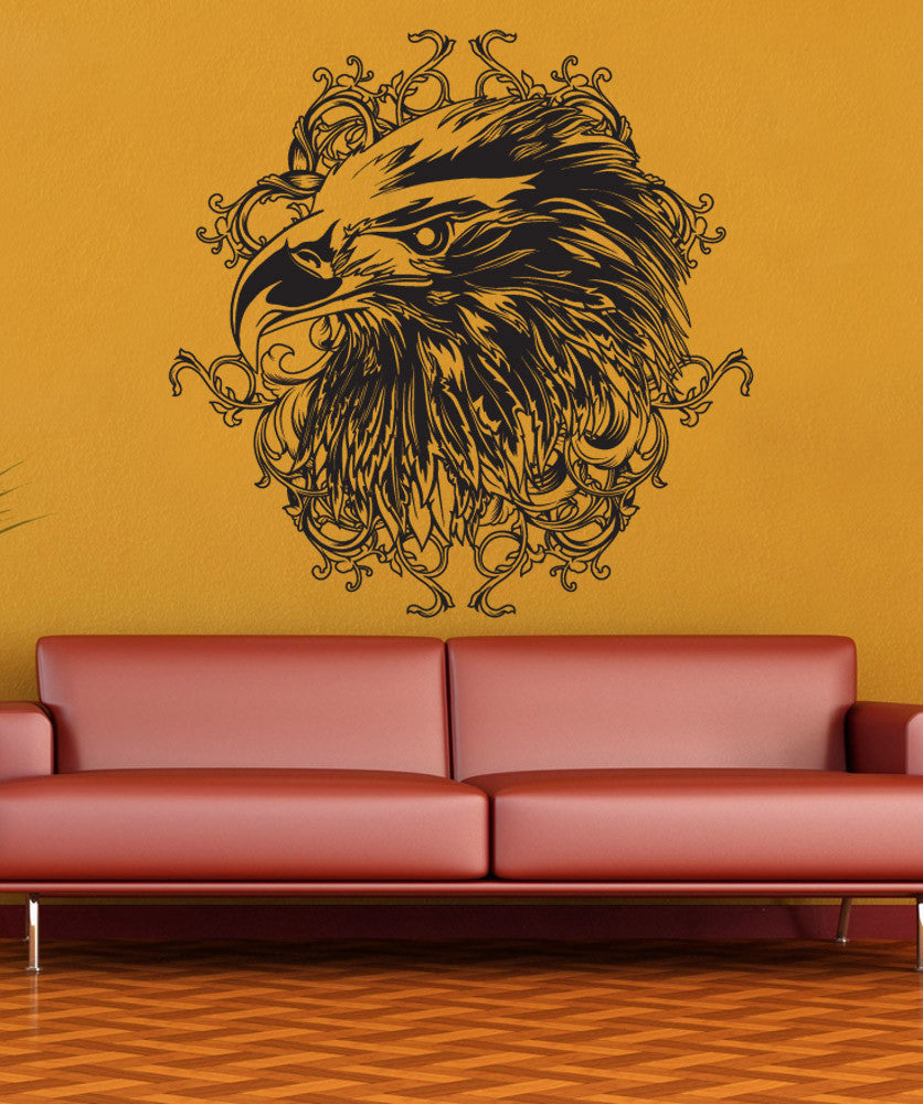 Vinyl Wall Decal Sticker Eagle Head Design #1256