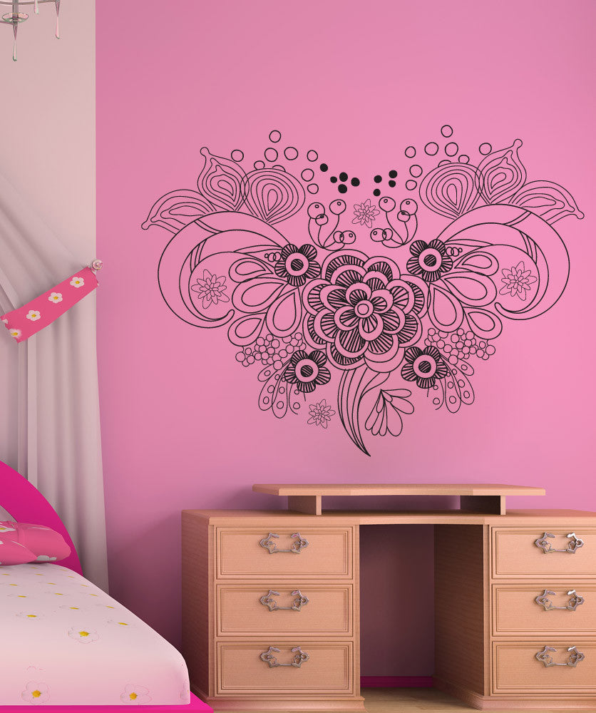 Vinyl Wall Decal Sticker Nature Floral Bouquet #1257