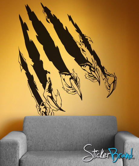 Vinyl Wall Art Decal Sticker Predator Claw Attack #125