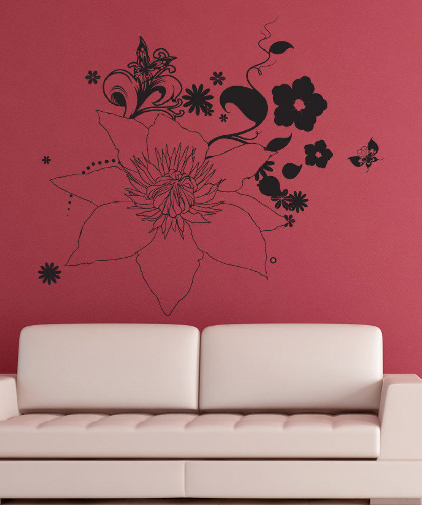 Vinyl Wall Decal Sticker Floral Nature #1263