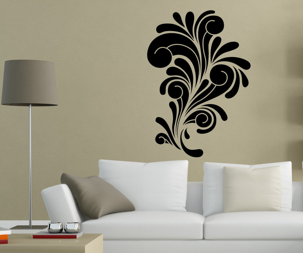 Vinyl Wall Decal Sticker Abstract Curls - Vinyl wall decals abstract