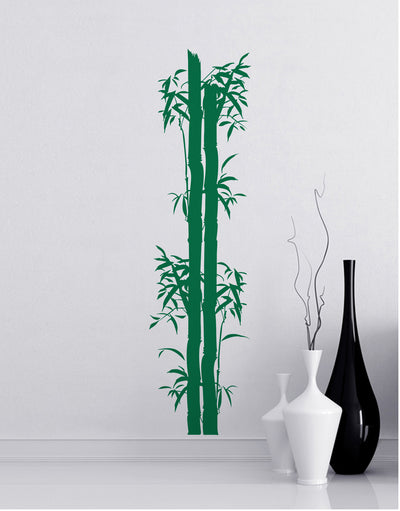 Bamboo Tree Wall Decal. Asian Home Decor. #126