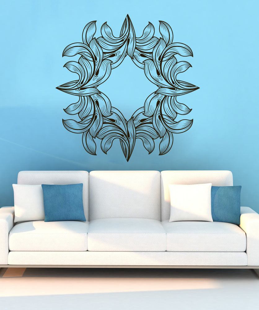 Vinyl Wall Decal Sticker Abstract Leaves Square #1270