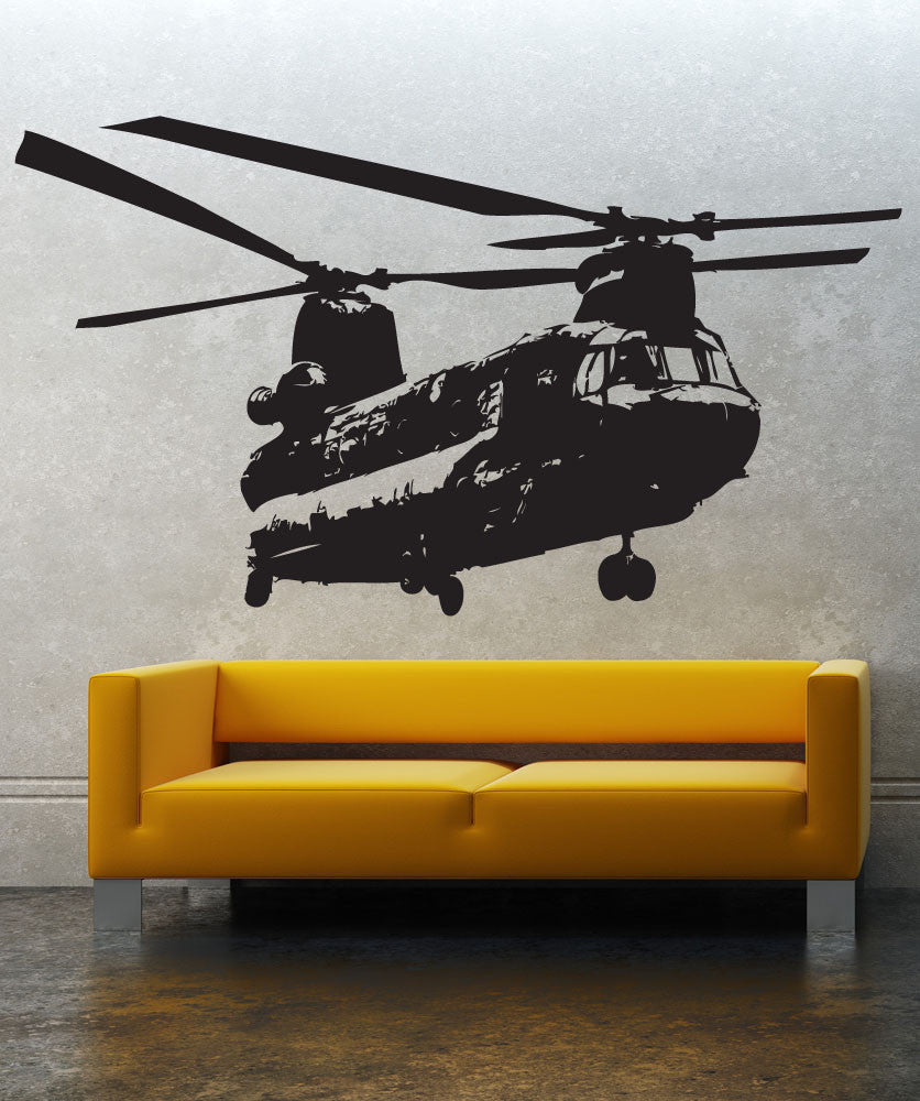 Vinyl Wall Decal Sticker Chinook Helicopter 1274
