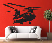 Military Chinook Helicopter Vinyl Wall Decal Sticker. #1274
