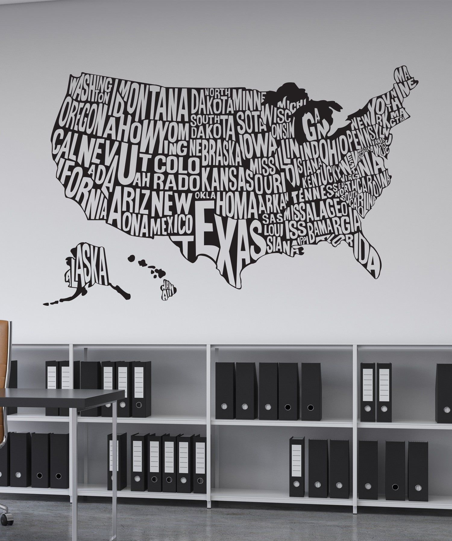 Us Map Wall Decal Vinyl Wall Decal Sticker United States Map #1275 | StickerBrand